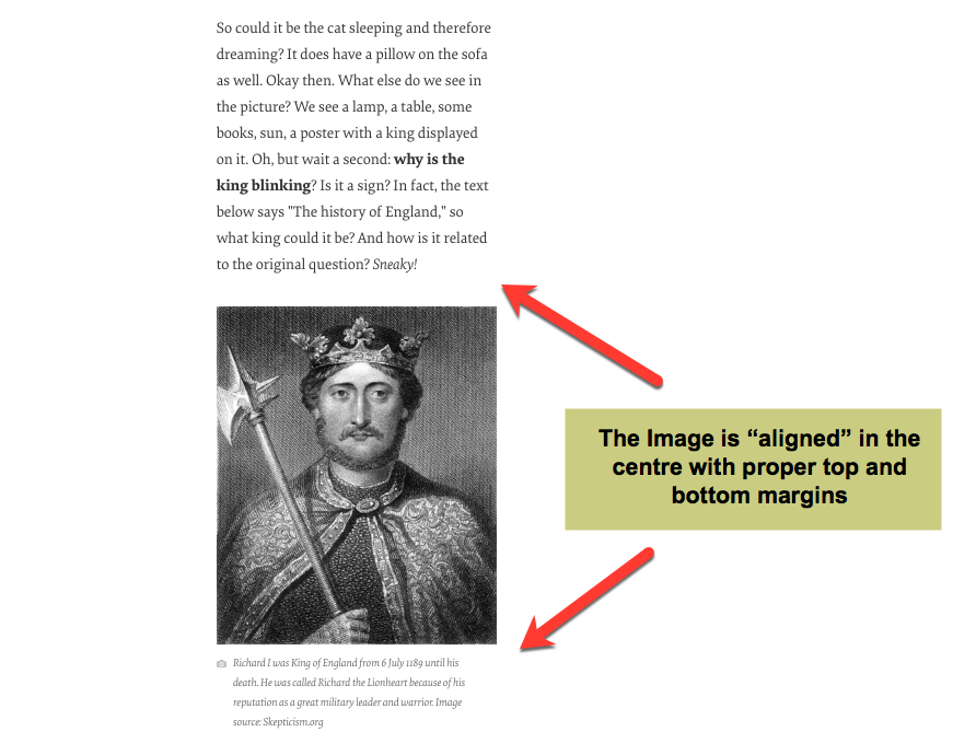 Image alignment in Blog posts