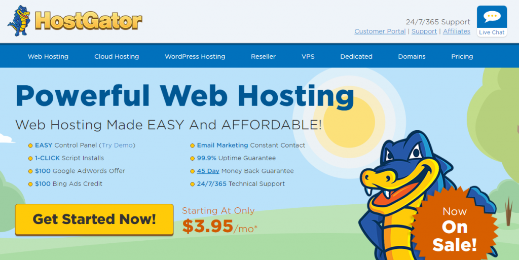 Hostgator web hosting for small business