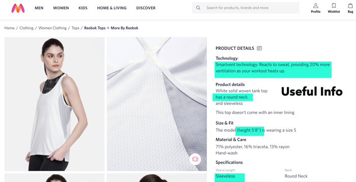 example of good product description ecommerce