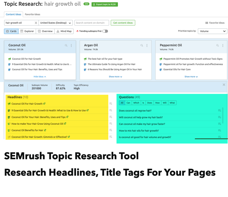 Generate headlines for title tags in ecommerce